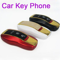 Wholesale F389 Car Shape key style w8 MINI Flip Gold Dual Sim Dual Band F388 Unlocked cheap cell phone efit