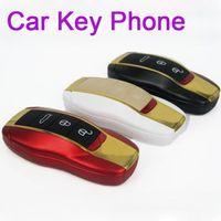 Wholesale F389 Car Shape key style w8 MINI Flip Gold Dual Sim Dual Band F388 Unlocked cheap cell phone efit