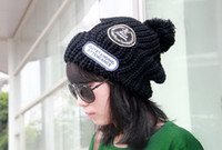 Wholesale Hot Sale Fashion Warm Winter Women Knitted Hats Knitting Crochet Cloches Hat Ski Cap