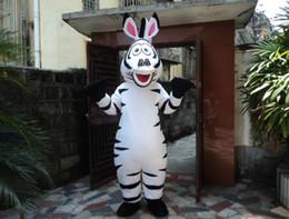 Compra Online Animales libres-El traje de lujo adulto de las mascotas de la historieta de la mascota de la cebra viste el tamaño adulto del vestido de Fany del traje de Víspera de Todos los Santos Envío libre