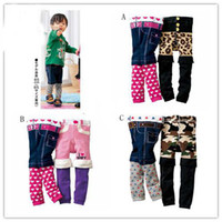 Wholesale New Arrive Nissen unisex PP Pants Kids Leggings Corduroy Pants Toddlers Tights spell color false two