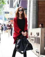 Wholesale 2012 new Korean womens ladies shawls bat sleevs knitted cardigan sweater Cashmere blended soft large