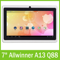 Wholesale Allwinner A13 Android Tablet PC inch GHz Ultrathin GB GB Capacitive Screen Camera Q88 DHL