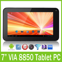 Wholesale VIA inch Android Tablet PC Point Capacitive Screen Camera GB MB WIFI Free DHL