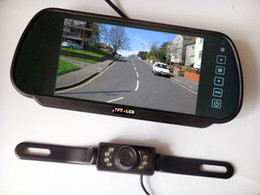 Wholesale A1 New quot Car LCD Monitor Mirror IR Reverse Car Rear View Backup Camera Kit