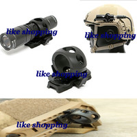 Wholesale OPS CORE Single Clamp FAST tactical helmet MICH tactical helmet side rail flashlight fixture Black