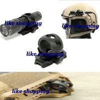Wholesale OPS CORE Single Clamp FAST tactical helmet MICH tactical helmet side rail flashlight fixture Black