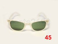 Wholesale 1pair Brand Mens Womens Classic Sunglasses Designer Glasses White Frame mm Green Lens