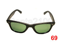 Wholesale 12pairs Brand Mens Womens Classic Sunglasses Designer Glasses Matt Black mm Green Lens