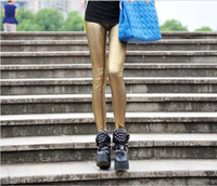 Leggings Skinny,Slim Capris Leather pants feet Fashion shiny pantyhose 2-color leggings 10pcs lot