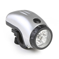 Wholesale Waterproof LED Bike Bicycle Head Light XAAA Silver
