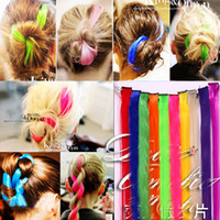 blend straight 1pcs/set Highlights bleaching and dyeing color fluorescent hair extension false have a piece of clip doubl