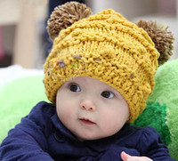 Boy Spring / Autumn Crochet Hats Infant Beanie Baby Hand Crochet Caps Winter Hats Handmade Baby Hat 20pcs Lot Free shipping
