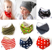 Wholesale Baby Stay Dry Bandana Dribble Bibs Triangle Head Scarf Sling Bibs for Infant baby pc GOOD