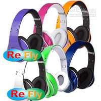 Wholesale Promotion DJ Headphones Colorful Blue Purple Orange Green Silver Rose