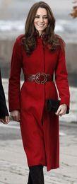 2013 new coat Woolen winter princess long coat design kate middleton women