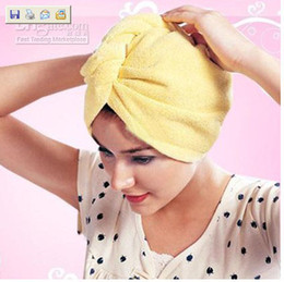 Wholesale 100 x22cm colors Microfiber Towel Absorbent Magic Quick Dry Bath Hair Dry hat hair cap