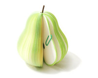 Wholesale Pieces Fruit Post Note Writing Memo Pads Portable Notepad Green Pear Shape