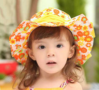 Girl Spring / Autumn Visor Cutest Girls Sun Hat kids Topee Baby Hats Beach Sun hats baby Summer Hat Children's Bucket Cap