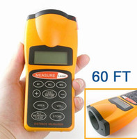 60FT Area Volume Meter area measurer - Piece New LCD Ultrasonic Laser Pointer Distance Measurer FT Area Volume Meter