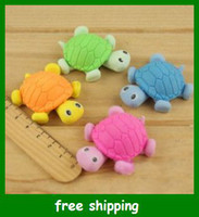 Wholesale Little Turtle Eraser Animal Rubber Tortoise Erasers Creative Stationery Children Gifts