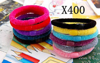 Cheap Elastic Band Mixed Color Velvet Elastic Hair Band Rope Hair Accessory For Girl woman