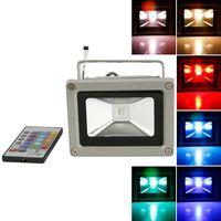 Wholesale Colorful W RGB LED Flood Light Landscape Lamp Remote Control
