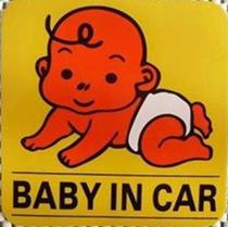 "30PCS LOT Personalized ""BABY IN CAR"" Funny Car Decals 12cm Reflective Bumper Sticker Fuel tank decal"