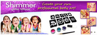 Eye art your face - mom and Guys Shimmer Glitter Tattoos Create Your Own Professional Body Art sets