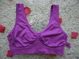 Wholesale 200pcs hot selling color sports vest seamless bra yoga bra Sizes