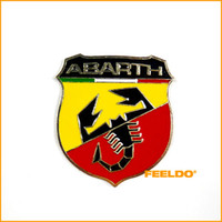 Wholesale 100set Brand New Metal D Badge Emblem Sticker Decal for Fiat Abarth