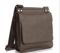 Wholesale Geniune Leather Men s Leisure Messenger Handbag Brown AB2110