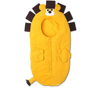 free size 3 Season yellow Autumn winter children thicken modelling Sleeping bags baby cotton blanket infant quilt yellow lion