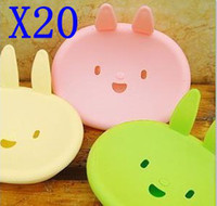 Eco Friendly bath soap holders - cute plastic rabbit toilet bathroom soap box bath soap holder
