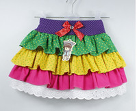 Wholesale Children skirts Girls layers colored cake skirt