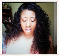 Wholesale Malaysian Virgin hair Full lace wig Natural curly Black color