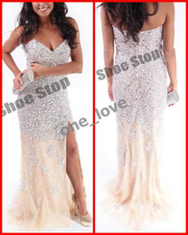 Wholesale 2012 Amazing Strapless Beaded Mermaid Chiffon Full Length Evening Prom Formal Gowns Dresses R