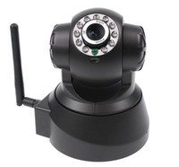 Wholesale UPDATE VERSION Wireless IP WiFi Internet Pan Tilt PTZ Dual Audio Camera Cam IP Cameras