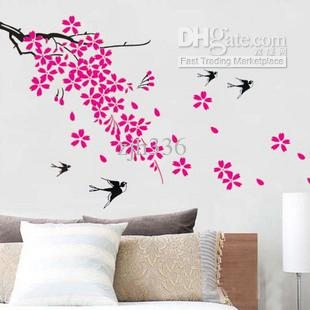 Home room decoration removable vinyl wall glass sticker for Home made decoration pieces