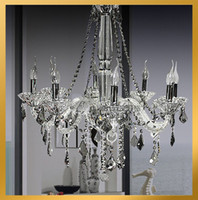 Wholesale Modern clear Crystal Rod Chandelier Light Pendant Lamp Ceiling Hanging Suspension