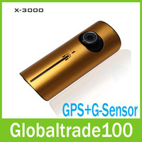 Wholesale Car DVR GPS Dual Camera Lens X3000 New quot LCD Full HD P Blackbox Camcorder R300 Free Hongkong Post Shipping