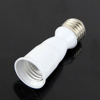 Wholesale E27 to E27 Extension Socket Base CLF LED Light Bulb Lamp Adapter Converter
