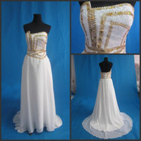 Actual Images Strapless Chiffon 2012 Real Picture Strapless Beaded Sequins Chiffon Floor Length Evening Wedding Prom Dresses Gowns