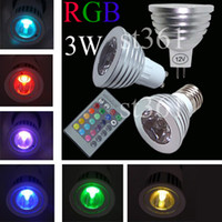 Wholesale 5pcs E27 E26 E14 MR16 GU10 Remote Control RGB Dimmable LED Lamp Spot Light Bulb Flash Spotlight W