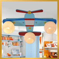 Wholesale Plane Modern Aeroplane Kid Child Children Bedroom Ceiling Fixture Pendant Lamp Light