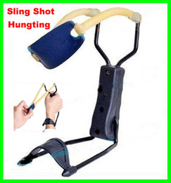 Wholesale Best price Sling Shot Camping Hunting Folding Wrist Powerful Slingshot