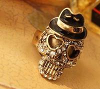 Skull Ring Fashion Jewelry Retro Cute Shinning Mr Skell Head...