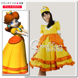 Wholesale NEW Super Mario Princess Daisy Cosplay Costume