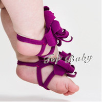 Wholesale 2012 NEW foot flower foot wear kids shoes TOP BABY feet band baby shoe flower foot ties