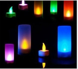 New 7 Color Flickering LED Change flameless lights Candle Tea Light